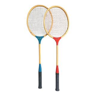 Vintage Batminton Rackets - A Pair For Sale