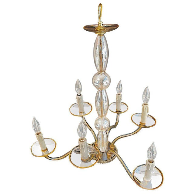 Hand Blown Murano Glass Chandelier For Sale - Image 4 of 4