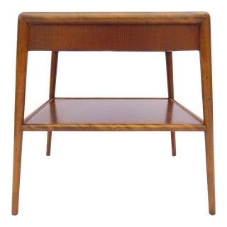 t.h. Robsjohn-Gibbings for Widdicomb Tapered Single Drawer Side Table For Sale