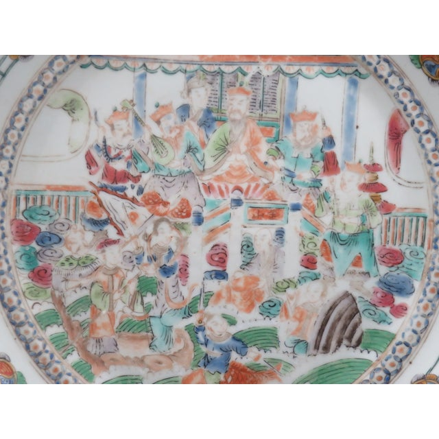 Asian Antique Chinese Mandarin Plates - a Pair For Sale - Image 3 of 6