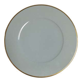 """Anna Weatherley 12.5"""" Pale Aqua Charger W/Gold Trim For Sale"""