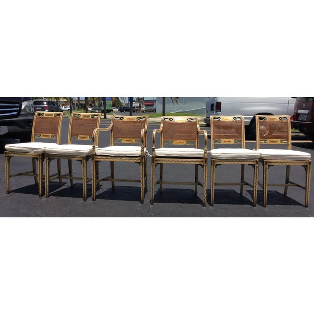 1920s French Country Wicker Dining Chairs - Set of 6 For Sale - Image 13 of 13