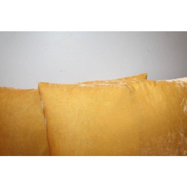 Pair of Golden Yellow Velvet Pillows For Sale - Image 4 of 8