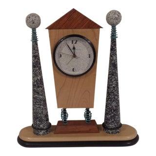 Modern Memphis Inspired Mantle Clock