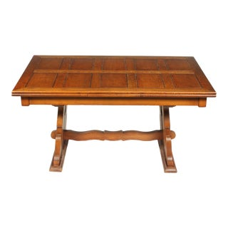 C.1940 Belgian Trestle Dining Table For Sale