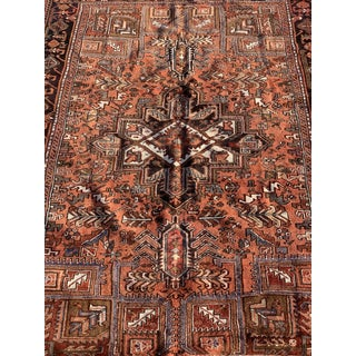 1950's Vintage Persian Heriz Large Area Rug 8'12' Preview