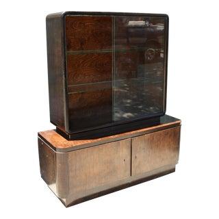 Art Deco 2 Piece Cabinet For Sale