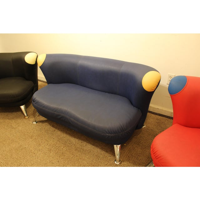 3-Piece Mid-Century Italian Modern Sofa Loveseat/Lounge Chair Set - Image 7 of 11