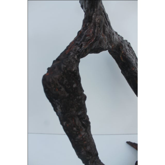 Vintage Brutalist Torch Cut Metal Sculpture - Image 4 of 11