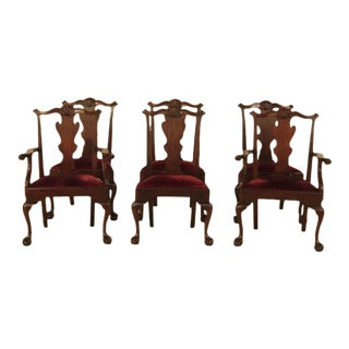 Henkel Harris Mahogany Dining Room Chairs W. Ball & Claw Feet - Set of 6 For Sale