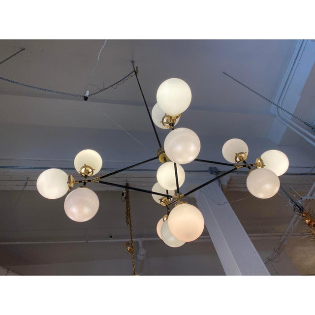 Visual Comfort Ian K. Fowler Bistro Four Arm Chandelier For Sale - Image 9 of 11