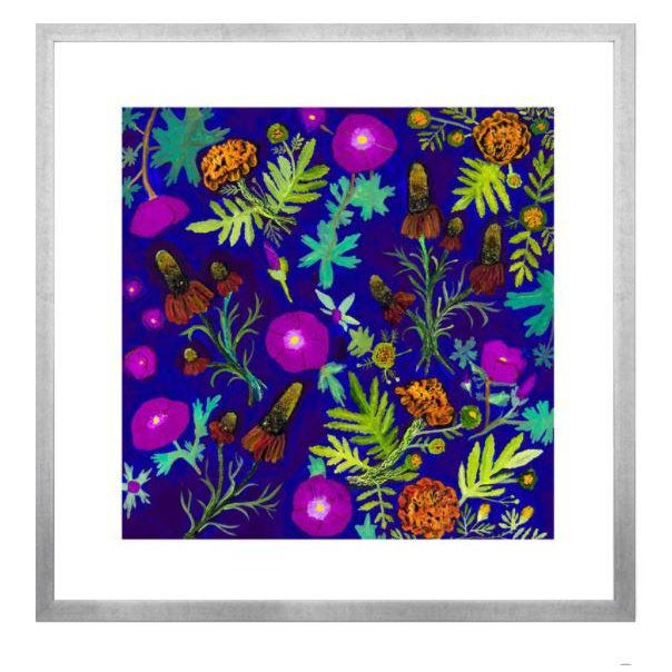 Kenneth Ludwig Chicago Wildflowers Mixed Floral Garden Artwork by Eli Hilpin For Sale - Image 4 of 4