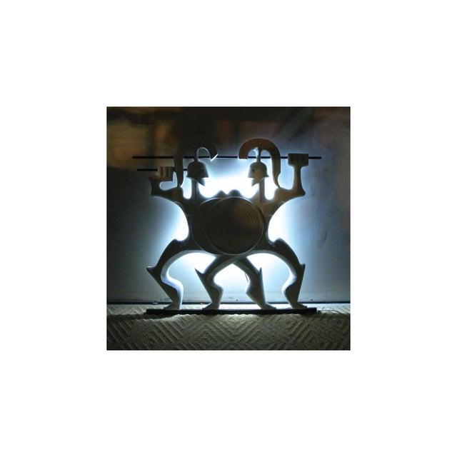Lights Frederick Weinberg Back-Lit Wall Sculpture For Sale - Image 7 of 8