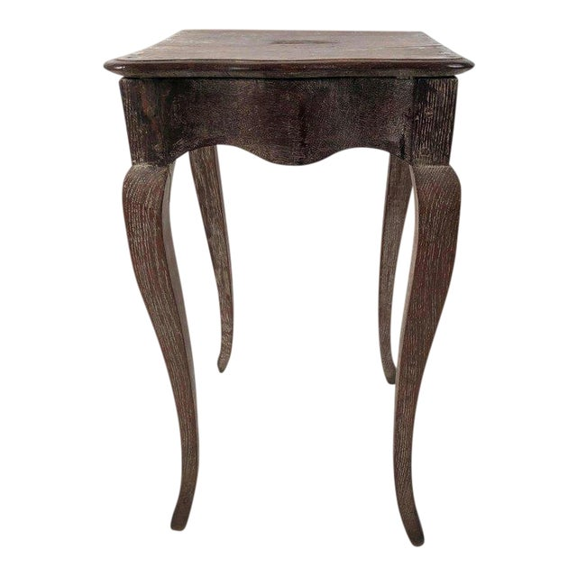 Small Louis XV Style Walnut and Limed Oak Side Table For Sale