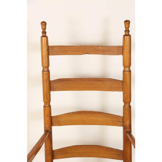 Early 20th Century Ladder High Back Rocking Chair For Sale - Image 4 of 7