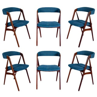 Set Of 6 Danish Dining Chairs For Sale