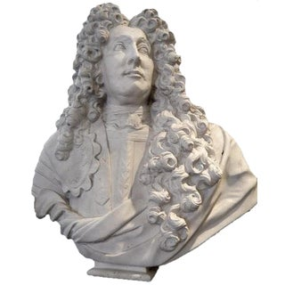 Plaster Bust of Louis XIV For Sale