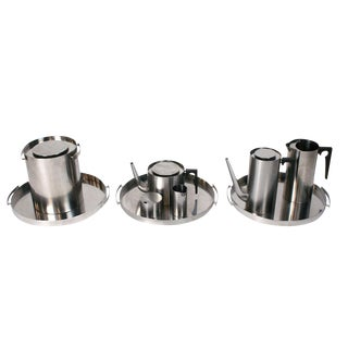 Arne Jacobsen Collection of Cylinda Line Service Ware - Set of 10 For Sale