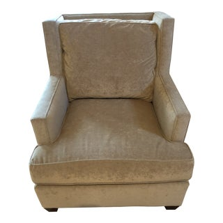Vintage Mitchell Chenille Club Chair For Sale