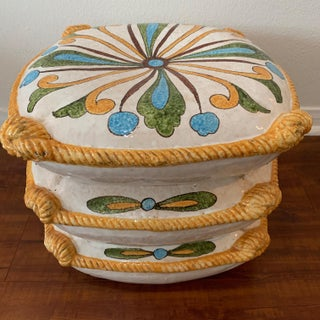 Vintage Ceramic Stacked Pillow Garden Stool Preview