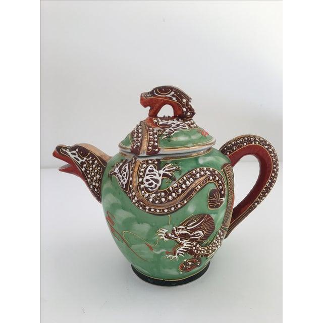 1940's Nagoya Moriage Dragon Ware Tea Set - 7 - Image 3 of 11