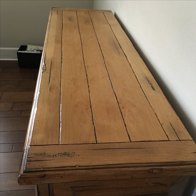 High End Custom Wooden Buffet Table by Lorts - Image 4 of 7