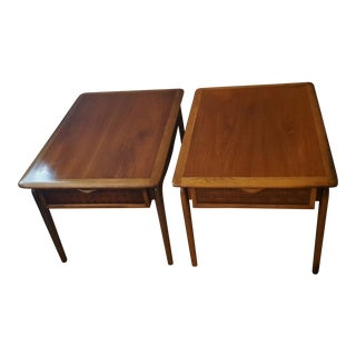 Lane Perception Mid-Century Side Tables - A Pair