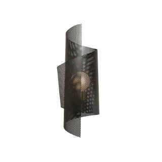 Spun Tulle Wall Sconce in Brass + Black Enamel Mesh by Blueprint Lighting, 2019 For Sale