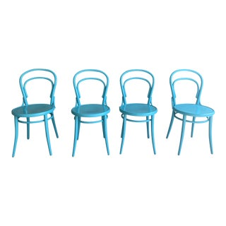 "Design Within Reach Thonet Turquoise ""Era"" Chairs- Set of 4 For Sale"