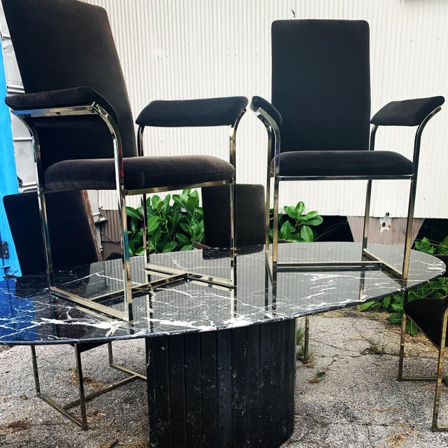 Milo Baughman Style Dining Chairs- Set of 8 For Sale - Image 9 of 10