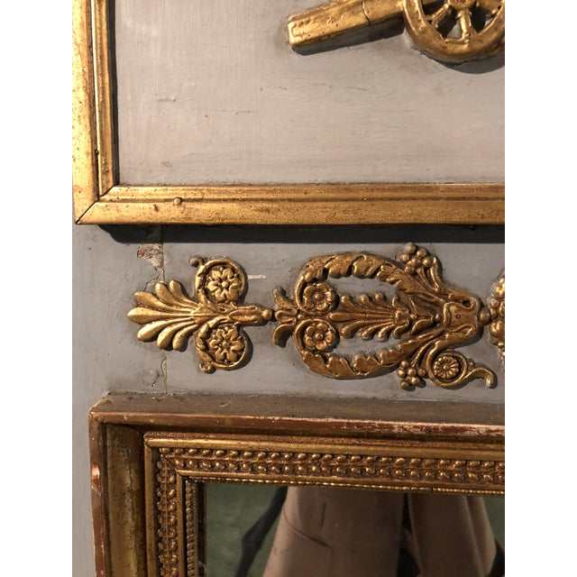 Gold Leaf Trumeau Mirror For Sale - Image 7 of 11