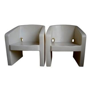 Nemschoff Plastic Polyethylene Chairs - a Pair