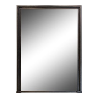 Antique French Full-Length Mirror in Handpainted Black Frame For Sale