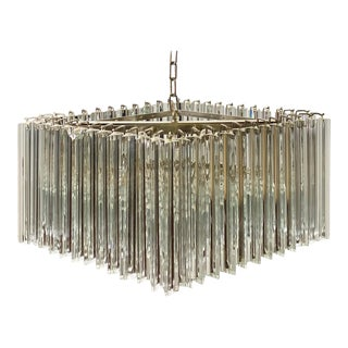 Mid-Century Italian Glass Prisms Chandelier by Camer For Sale