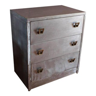 1920's Metal Dresser With Brass Hardware