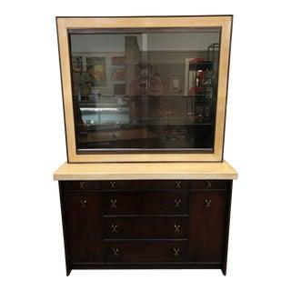 Paul Frankl for Johnson Bros Mahogany & Cork Server Display Cabinet For Sale