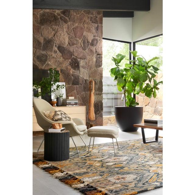 """Loloi Rugs Loloi Rugs Farrah Rug, Charcoal / Khaki - 2'3""""x3'9"""" For Sale - Image 4 of 6"""