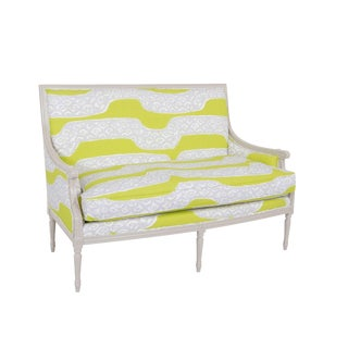 Dana Gibson Olivers Settee in Pilar For Sale