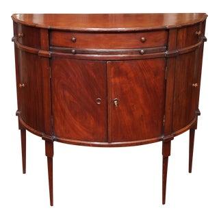 19th Century Neoclassical Demi-Lune Console Cabinet For Sale