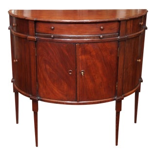 Early 19th Century Neoclassical Demi-Lune Console Cabinet For Sale