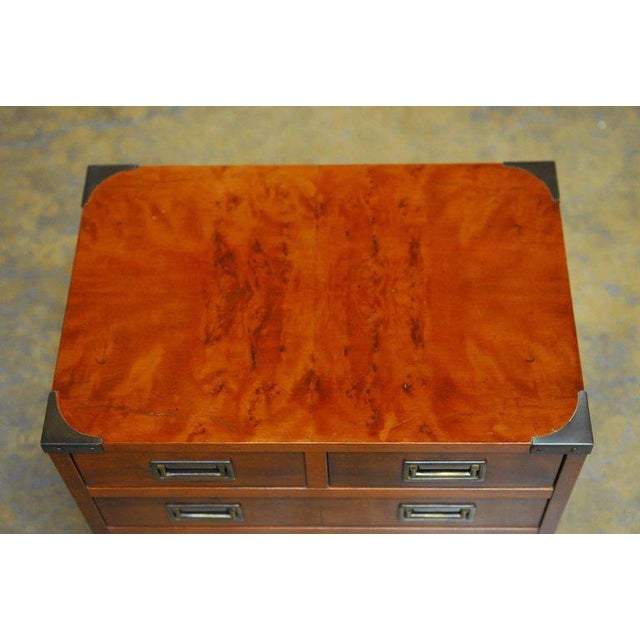 Diminutive Campaign Style Chest or Dresser by Hekman - Image 4 of 9