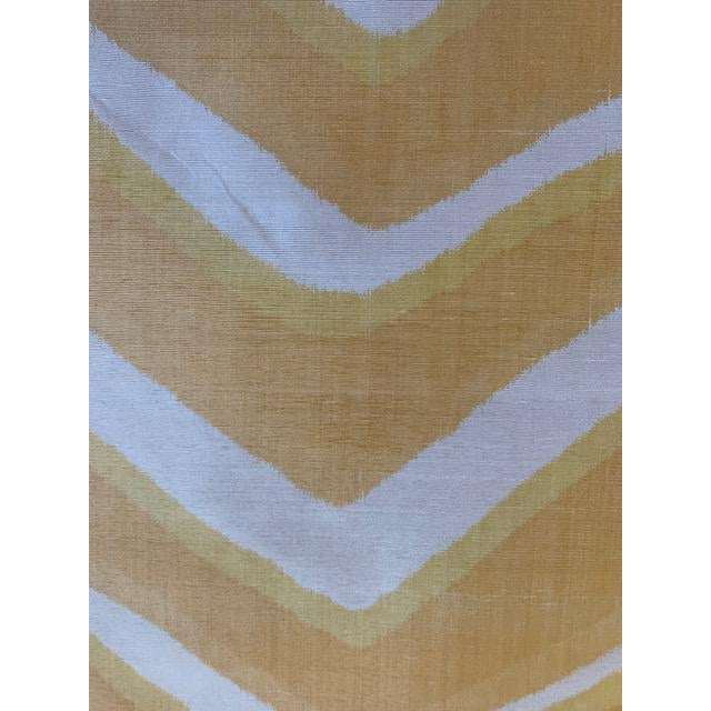 Contemporary Contemporary Brunschwig and Fils Chevron Bar Silk Fabric For Sale - Image 3 of 4