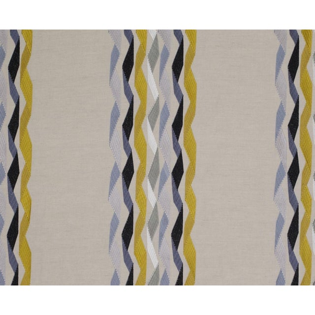 James Hare Yellow Carnival Stripe Fabric - 3 Yards - Image 2 of 2