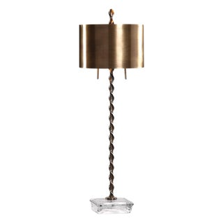 Transitional Metal Table Lamp For Sale