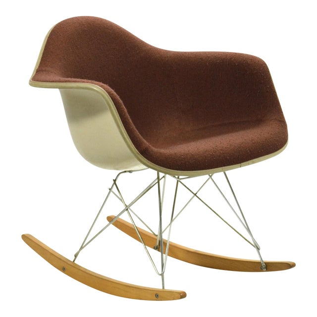 """Eames """"Baby Rocker"""" Rar by Herman Miller with Alexander Girard Upholstery For Sale"""
