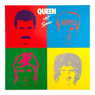 "1982 ""Queen Hot Space"" Elektra Records Promo Pop Art Poster For Sale"