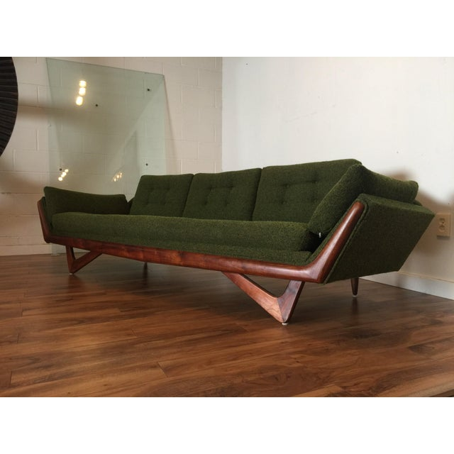 Adrian Pearsall Craft Associates Mid-Century Gondola Sofa - Image 4 of 11