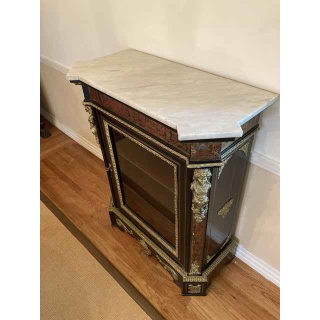 French Boulle Style Display Cabinet For Sale - Image 9 of 11