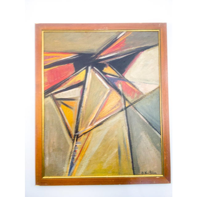 French Abstract Cubist Oil Painting For Sale In Atlanta - Image 6 of 6