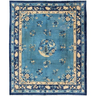 Keivan Woven Arts, L11-0807, Early 20th Century Antique Chinese Peking Rug - 9′10″ × 11′8″ For Sale
